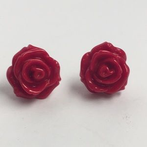❤️ Red Plastic Earrings